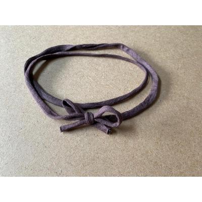 Haarbandje elastisch bruin